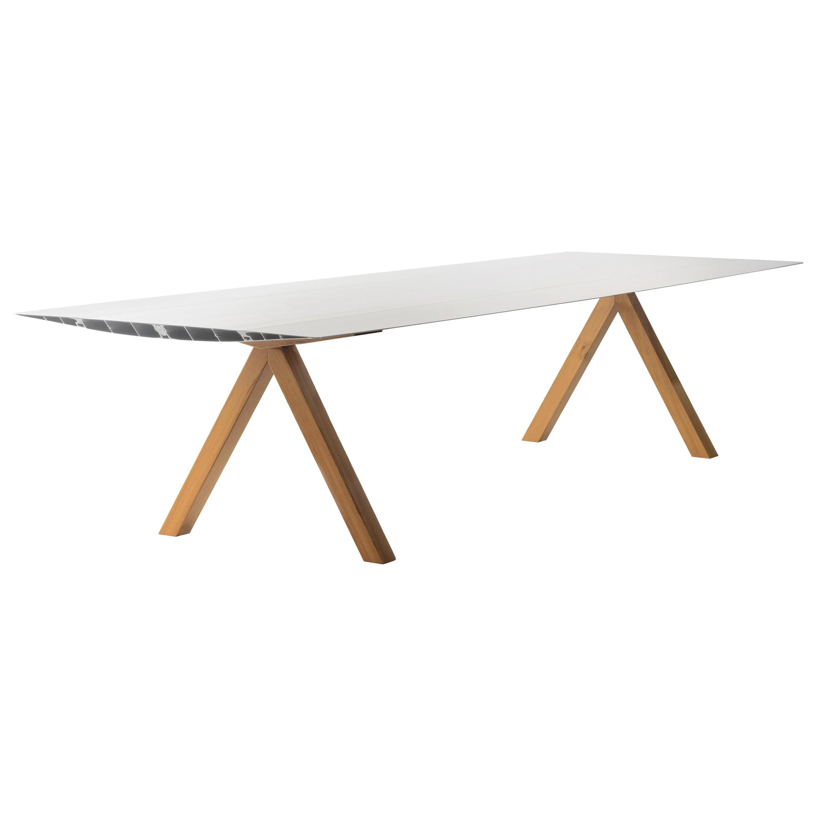 Konstantin Grcic Table 'B' Aluminium by BD Barcelona