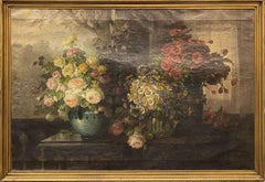 Still Life with Roses, Daisies, & Poppies