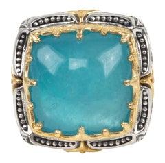 Konstantino Astria Aquamarine Cabochon Ring
