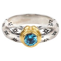 Konstantino Astria Ring with Blue Spinel Gold and Sterling Silver