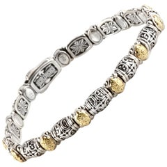 Konstantino Bracelet in Sterling Silver and Yellow Gold