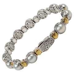 Konstantino Pearl Silver and Gold Bracelet