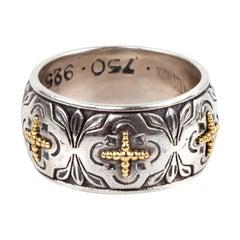 Konstantino Silver and Gold Band Ring
