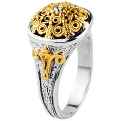Konstantino Silver and Gold Ring