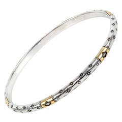 Konstantino Sterling Silver and Yellow Gold Astria Bangle Bracelet