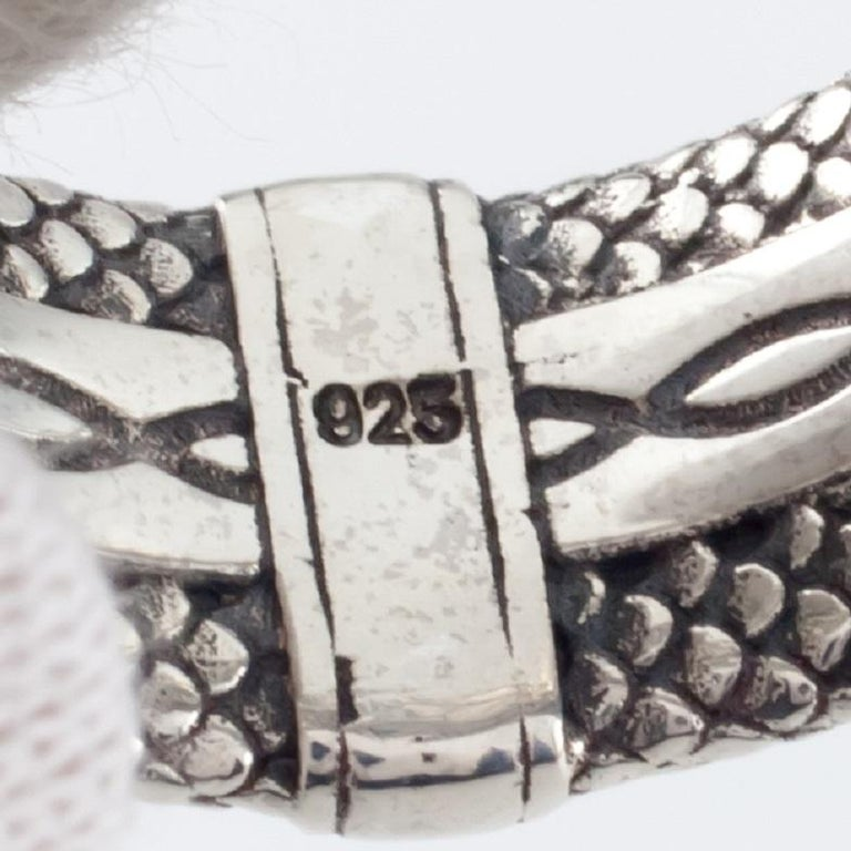 Konstantino Sterling Silver Dragon Armor Ring with Black Spinel In Good Condition For Sale In Sherman Oaks, CA