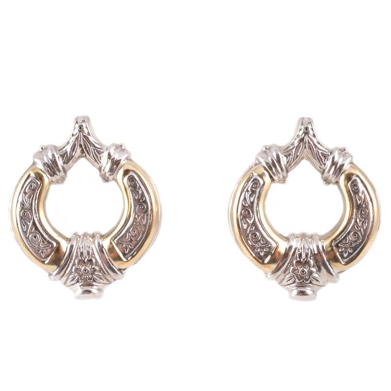 """Konstantino"" Yellow Gold Sterling Silver Clip Earrings"