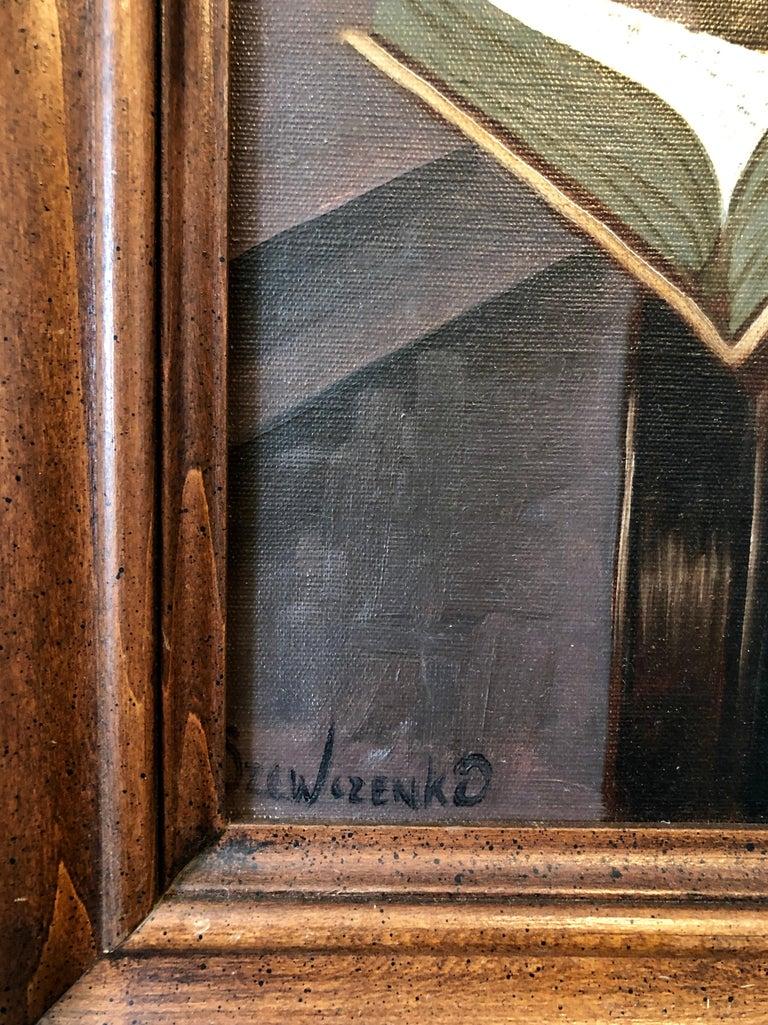 Polish Jewish Art, The Rabbi Studying, Judaica Oil Painting Szewczenko For Sale 1