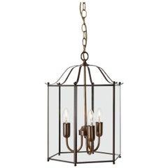 Konsthantverk Glimminge 3 Arms Oxideized Brass Ceiling Lamp