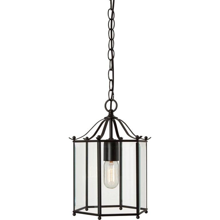 Swedish Konsthantverk Glimminge Black Brass Ceiling Lamp For Sale