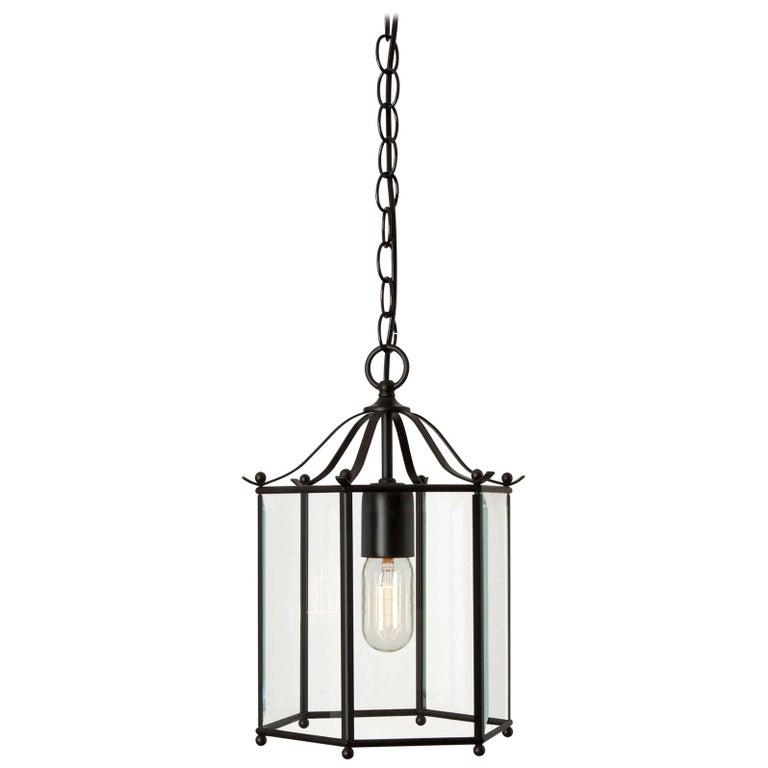 Konsthantverk Glimminge Black Brass Ceiling Lamp For Sale