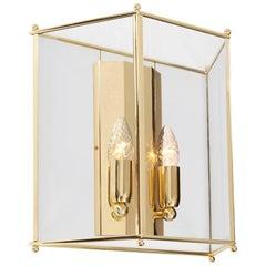 Konsthantverk Glimminge Brushed Brass Large Wall Lamp