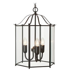 Konsthantverk Glimminge Large 3 Arms Black Brass Ceiling Lamp
