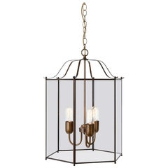 Konsthantverk Glimminge Large 3 Arms Oxideized Brass Ceiling Lamp