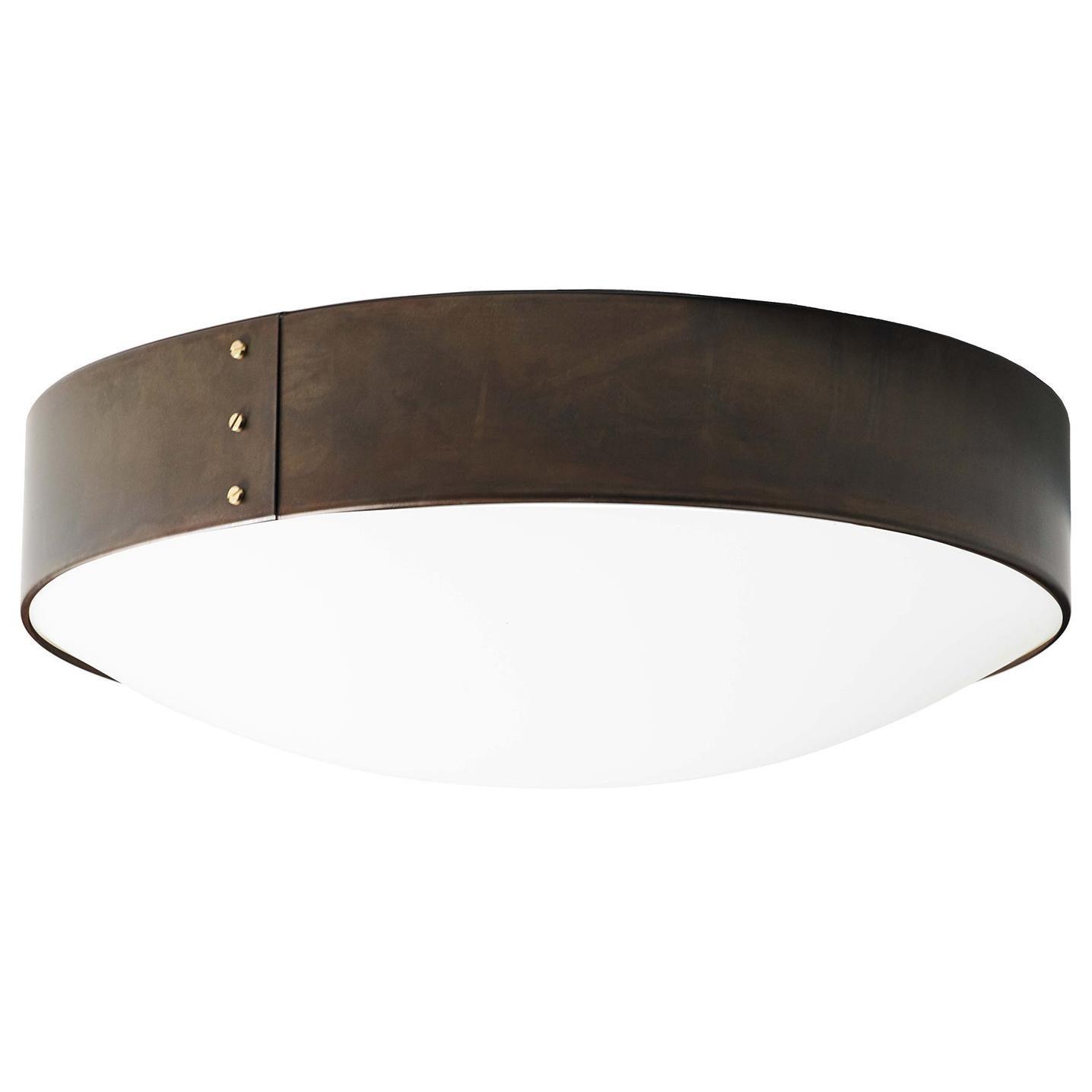 Konsthantverk Svep Large Iron Oxide Ceiling Lamp