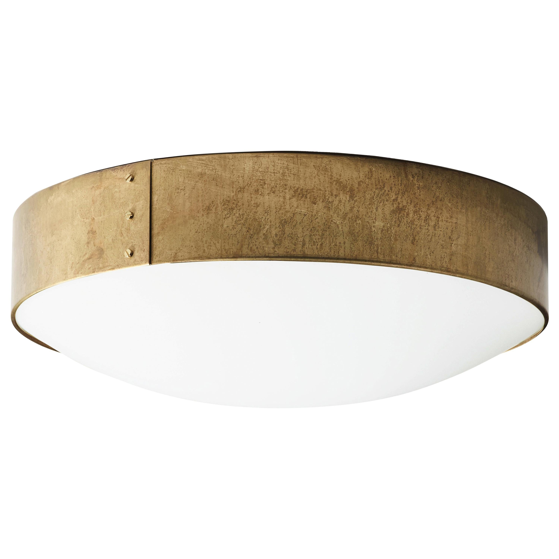 Konsthantverk Svep Large Raw Brass Ceiling Lamp