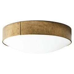 Konsthantverk Tyringe Svep Raw Big Brass Ceiling Lamp