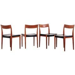 'Kontiki' Teak Dining Chairs by Yngve Ekström for Troeds, Set of 4