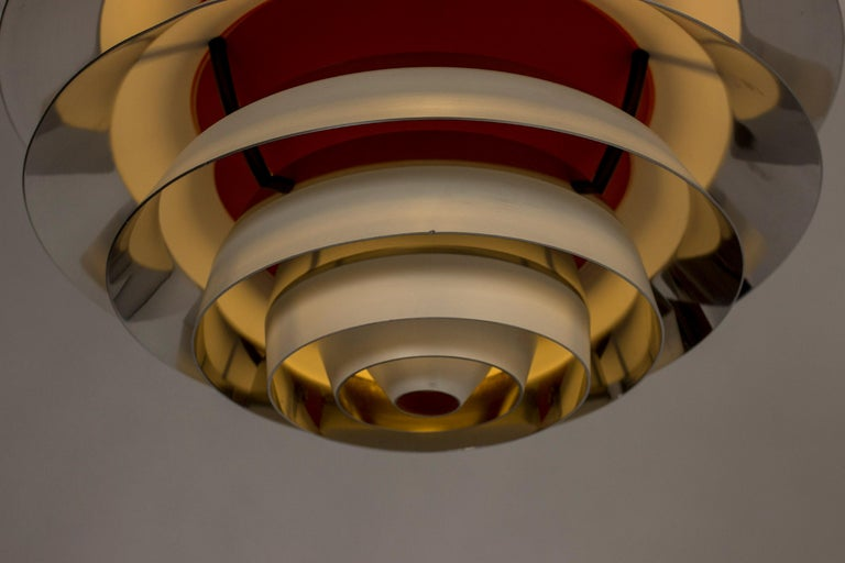 "Aluminum ""Kontrast"" Pendant Lamp by Poul Henningsen for Louis Poulsen For Sale"