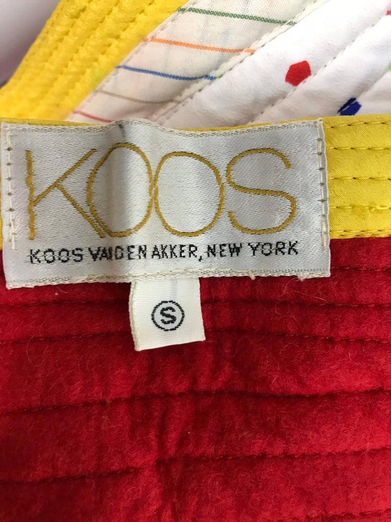 Koos Van Den Akker confetti printed dress and wide belt 1980s For Sale 5