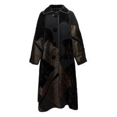 Koos Van Den Akker Couture Black Long Velvet Coat