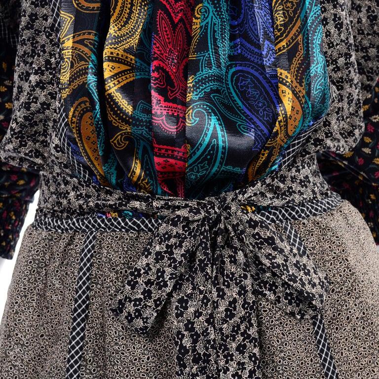 Koos Van den Akker Couture Collage Vintage 2 Piece Dress Abstract Patchwork For Sale 8