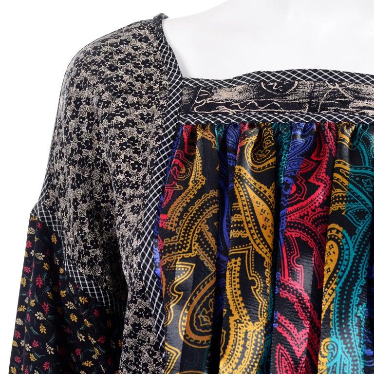 Koos Van den Akker Couture Collage Vintage 2 Piece Dress Abstract Patchwork For Sale 9