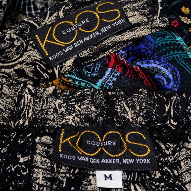 Koos Van den Akker Couture Collage Vintage 2 Piece Dress Abstract Patchwork For Sale 10