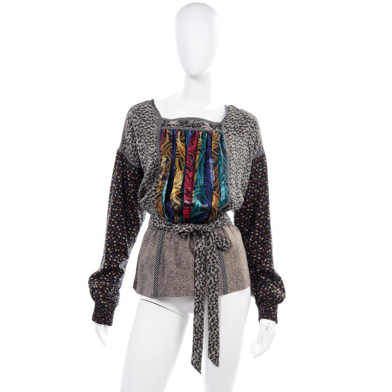 Koos Van den Akker Couture Collage Vintage 2 Piece Dress Abstract Patchwork For Sale 3