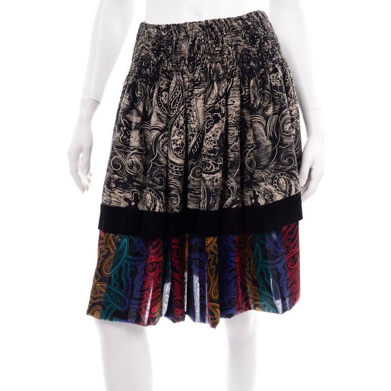 Koos Van den Akker Couture Collage Vintage 2 Piece Dress Abstract Patchwork For Sale 4