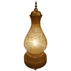 Koppa Intricate Moroccan Copper Lamp or Lantern, Table Lamp