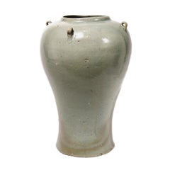 Korean Celadon Baluster Jar, Koryo Dynasty, 12th Century