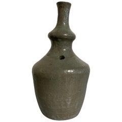 Korean Celadon Glazed Ritual Ewer, Kundika, Goryeo Dynasty, 13th-14th Century
