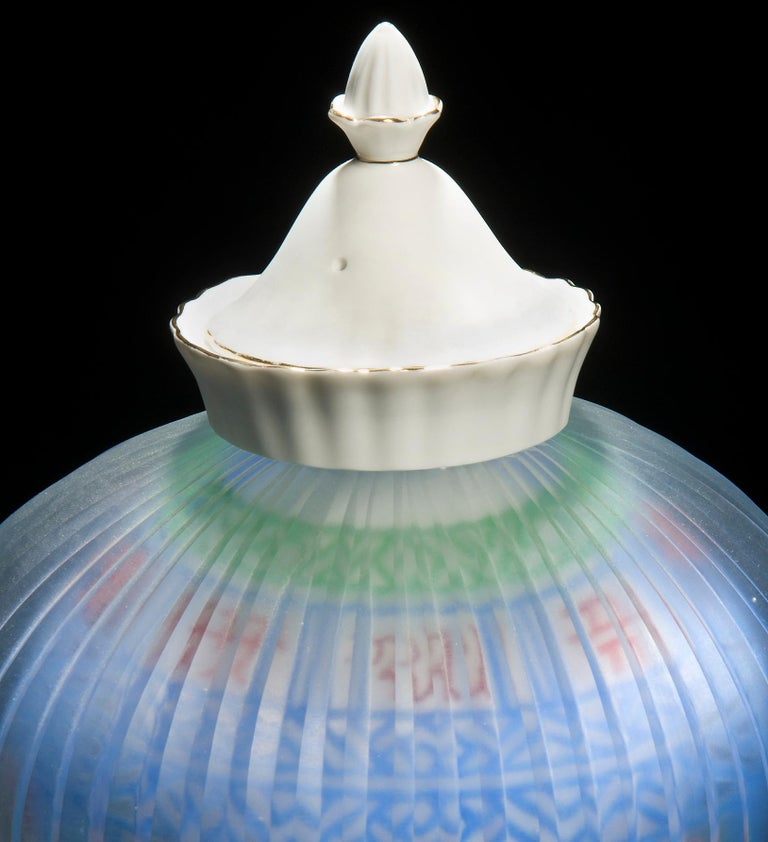 Contemporary Korean Glass 25, a unique porcelain and glass sculpture by Choi Keeryong For Sale