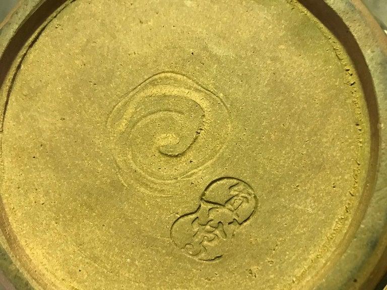 Makuzu Kozan II Signed and Stamped Japanese Ceramic Flower Pottery Bowl Pot For Sale 1