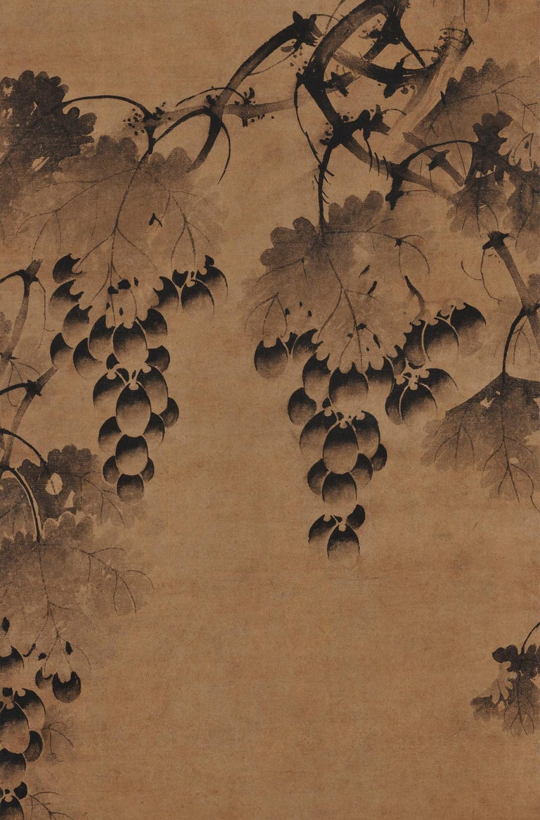 Other Korean Grapevine Painting, Wall Panel, 17th Century For Sale
