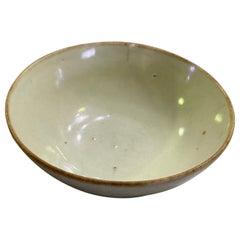 Korean Joseon Dynasty Glazed Pottery Ceramic Hakame Chawan Tea Bowl
