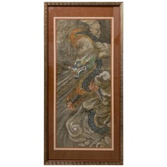 Korean Minhwa Dragon Painting, Joseon Dynasty, Late 19th Century