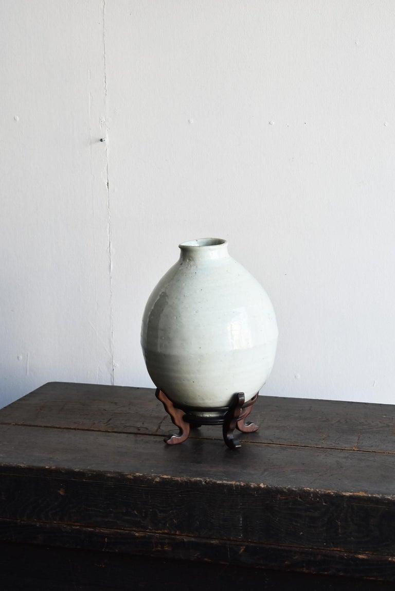 Korean Old Pottery Li Dynasty White Porcelain Vase Antique Vase 11