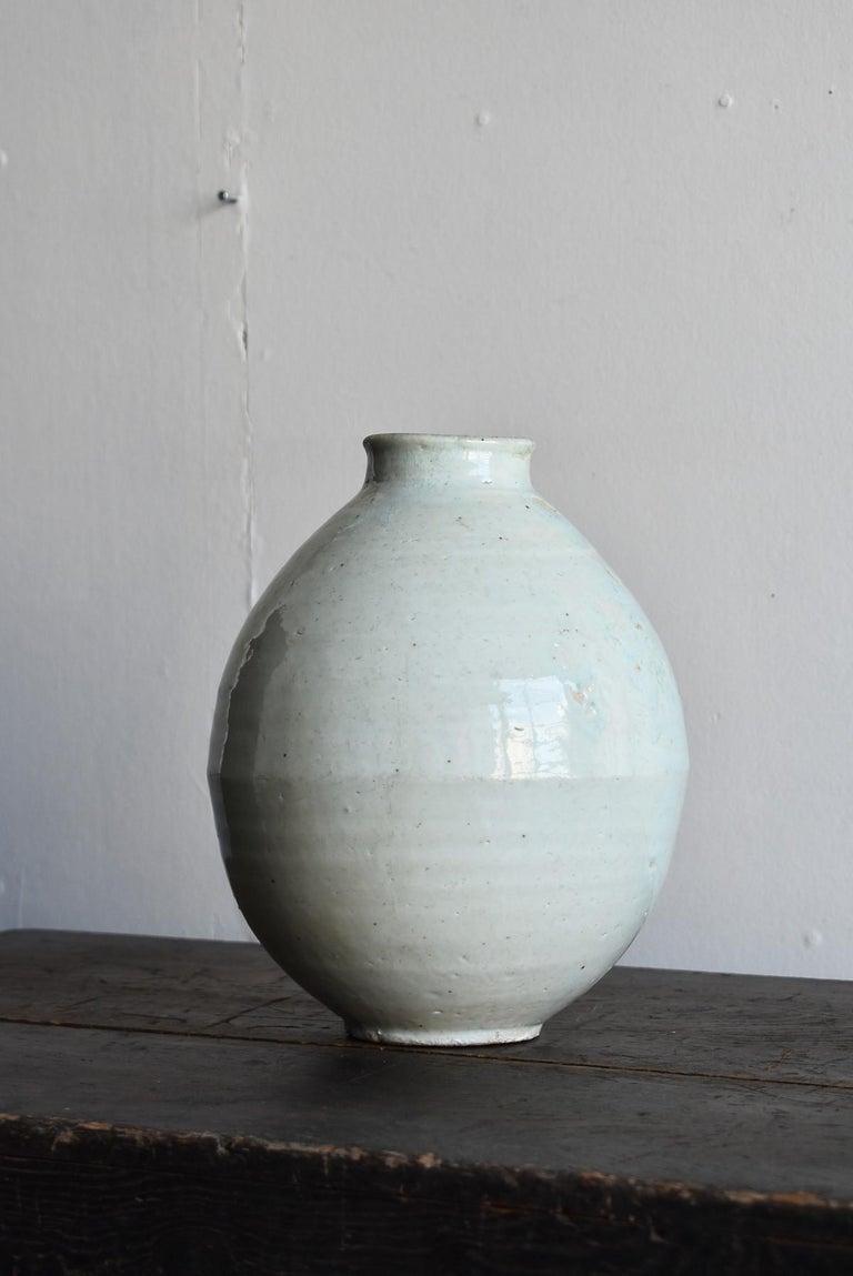 Korean Old Pottery Li Dynasty White Porcelain Vase Antique Vase 12