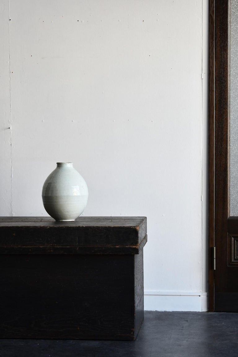 Korean Old Pottery Li Dynasty White Porcelain Vase Antique Vase 13