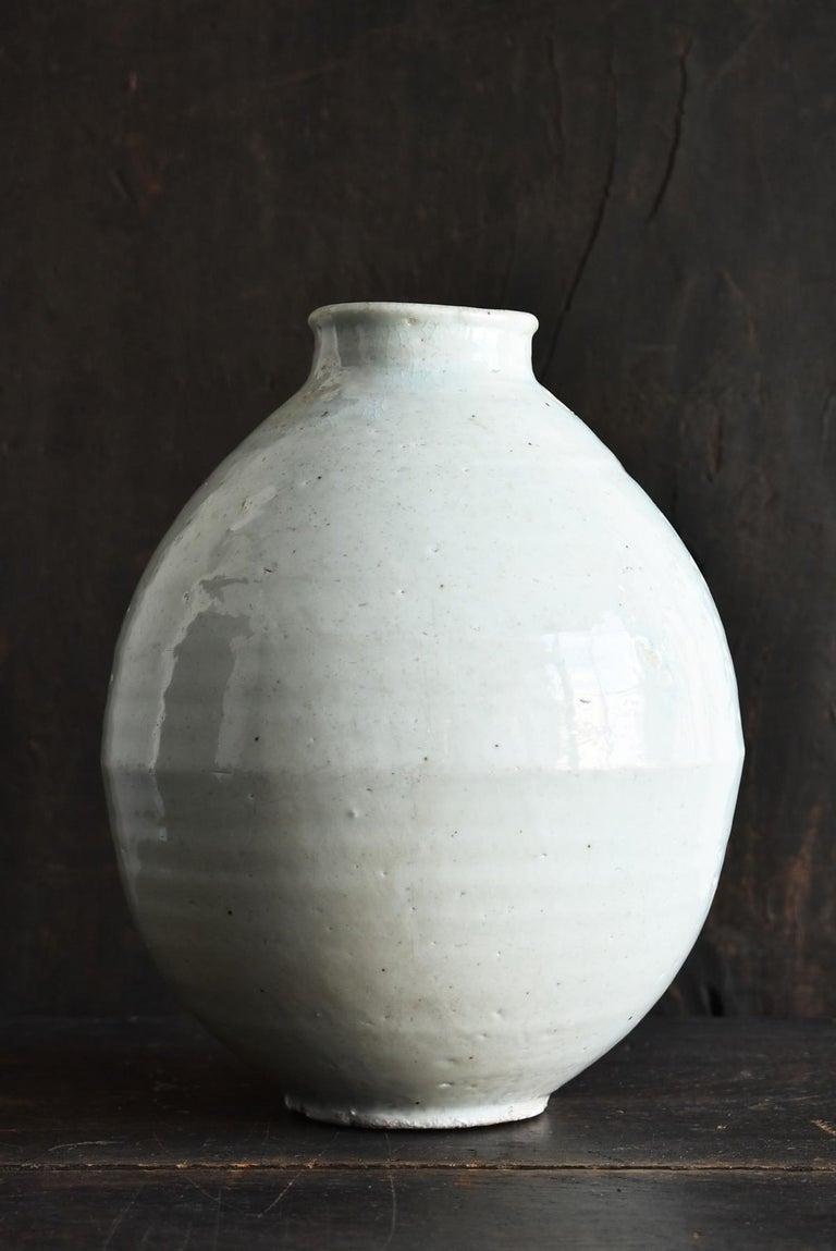 Arts and Crafts Korean Old Pottery Li Dynasty White Porcelain Vase Antique Vase