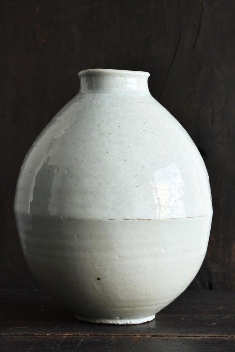 Korean Old Pottery Li Dynasty White Porcelain Vase Antique Vase In Good Condition In Sammushi, JP