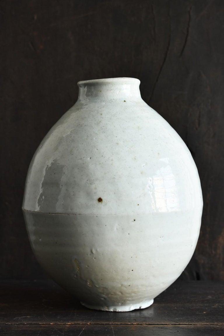 18th Century and Earlier Korean Old Pottery Li Dynasty White Porcelain Vase Antique Vase