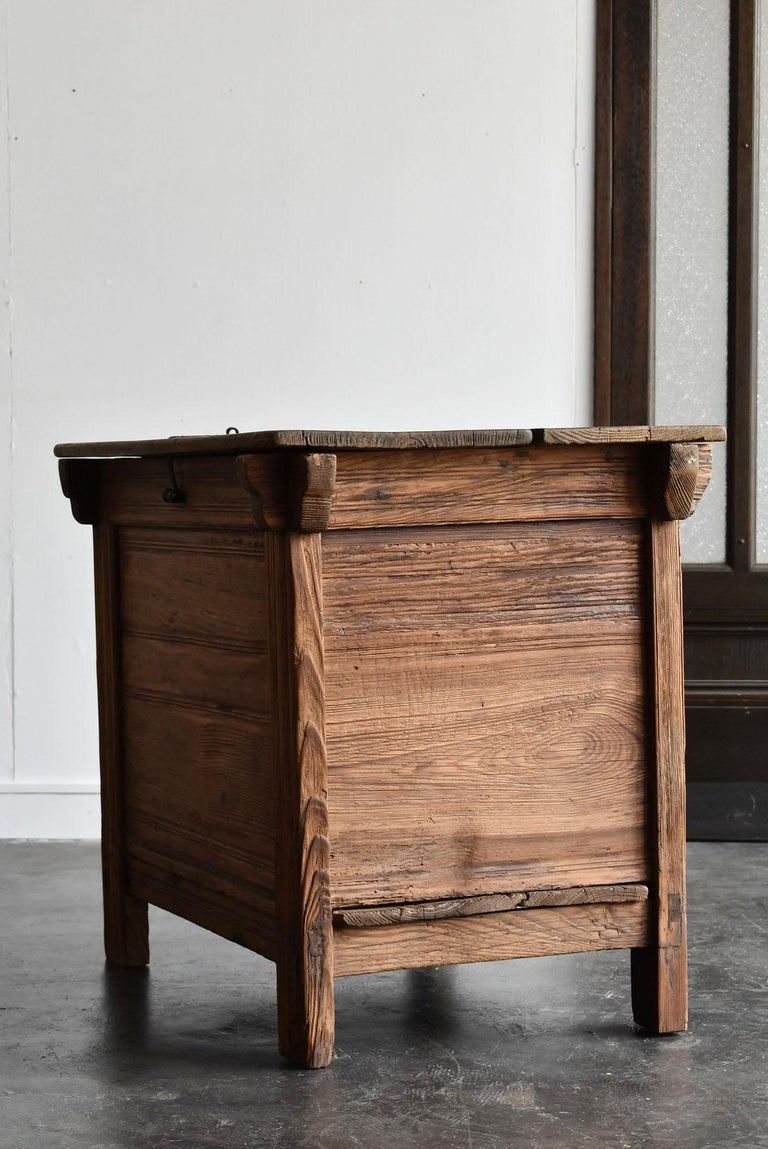 Korean Old Wooden Stand / Wooden Box / Joseon Era 19th Century / Folk Art 5
