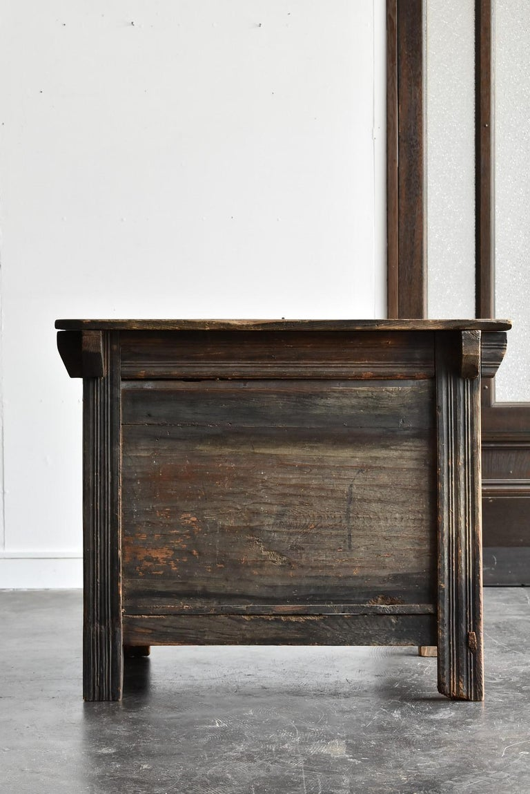 Korean Old Wooden Stand / Wooden Box / Joseon Era 19th Century / Folk Art 7
