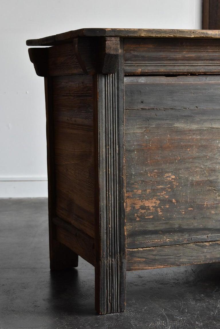 Korean Old Wooden Stand / Wooden Box / Joseon Era 19th Century / Folk Art 9