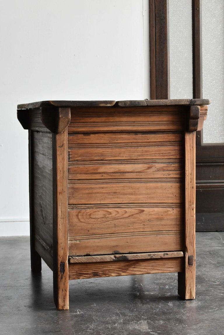 Korean Old Wooden Stand / Wooden Box / Joseon Era 19th Century / Folk Art 10