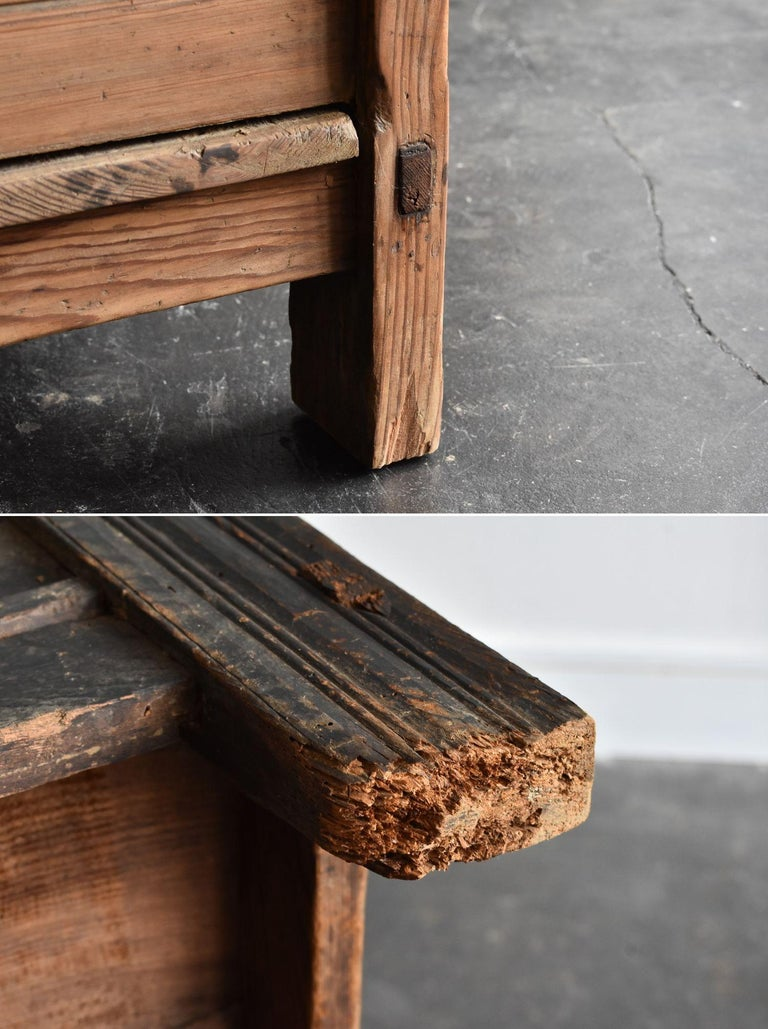 Korean Old Wooden Stand / Wooden Box / Joseon Era 19th Century / Folk Art 13