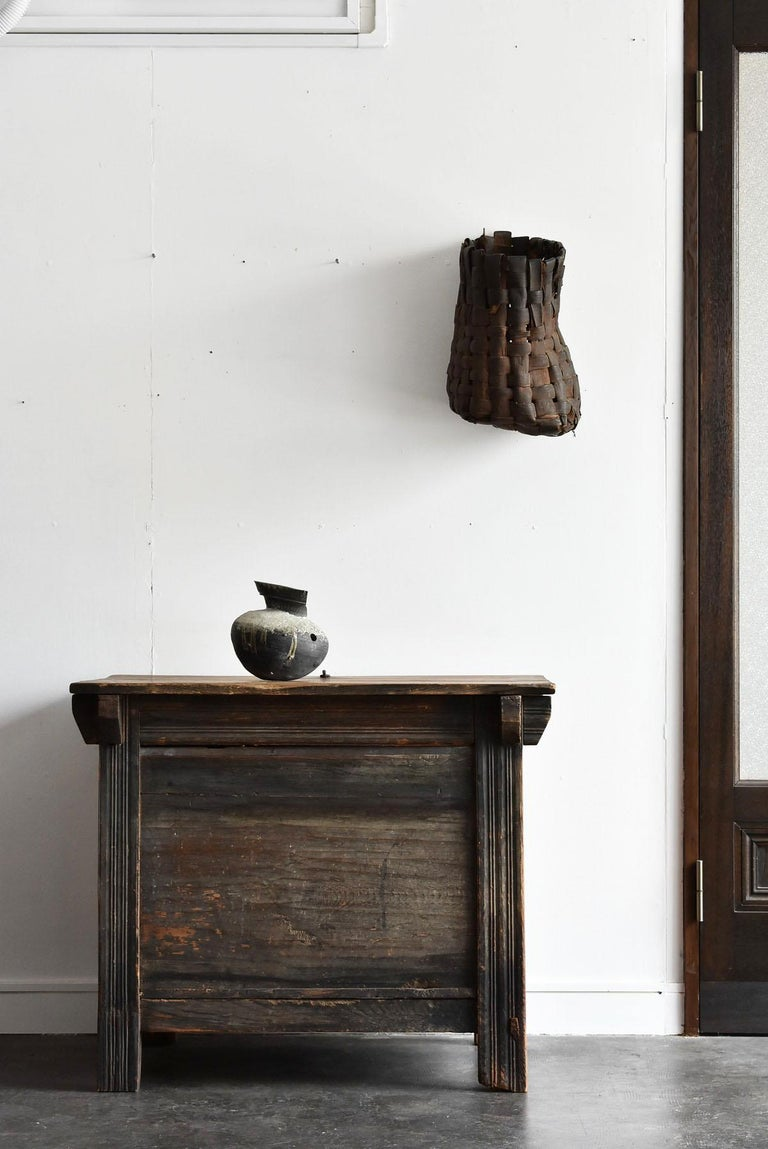 Woodwork Korean Old Wooden Stand / Wooden Box / Joseon Era 19th Century / Folk Art